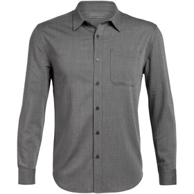 Icebreaker Compass Flannel LS Shirt Men gritstone heather